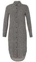 Dorothy Perkins Wo**izabel London Multi Black Shirt Dress- White