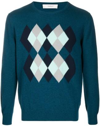 Pringle Argyle-intarsia sweater