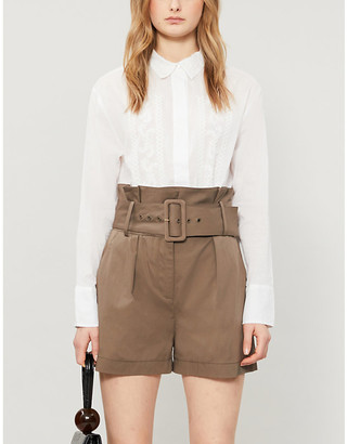 Sandro Aneliembroidered cotton shirt