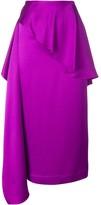 Chalayan side sash ruffled skirt