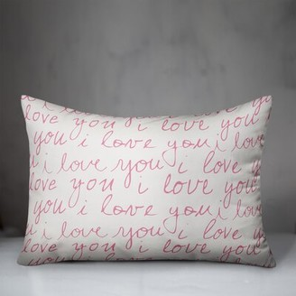 Speidel Wrought Studio I love You Handwriting Lumbar Pillow Wrought Studio