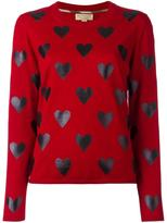 Burberry heart print jumper - women - Merino - S