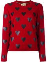 Burberry heart print jumper