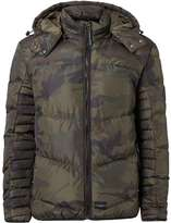 Criminal Damage Khaki Camo Puffer Jacket*