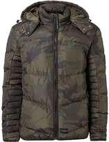 Criminal Damage Khaki Camouflage Puffer Jacket*