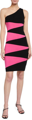 Victor Glemaud One-Shoulder Geometric Dress