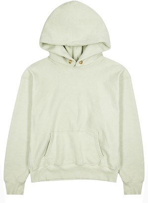 LES TIEN Mint Hooded Cotton Sweatshirt