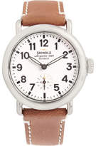 Shinola The Runwell 36mm Stainless Steel and Leather Watch