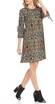 Westbound Printed Bell Sleeve Dress
