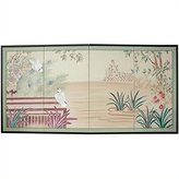 Oriental Furniture Asian Decor and Gifts, 36 by 72-Inch Lush Garden Brush Art Oriental Wall Screen Painting