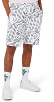 Topman Men's Letter Print Jersey Shorts