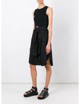 Alexander Wang shirt style A-line skirt