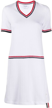 Thom Browne V-Neck Knitted Dress