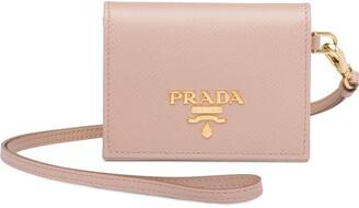 Prada Leather badge card holder