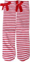 Generic 1-6 Years Kids Girls Princess Knee High Socks w/ Bowknot- Red and White Stripes
