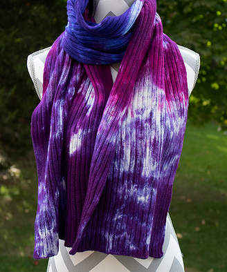 Zen Yarn Garden Women's Accent Scarves - Paint Box Hand-Dyed Double-Ribbed Scarf