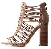 Charlotte Russe Bamboo Strappy Woven Sandals
