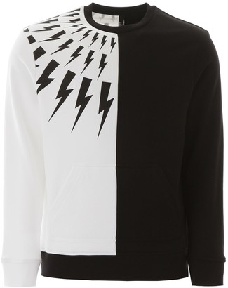 Neil Barrett Thunder Print Sweatshirt