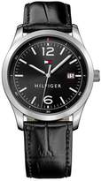 Tommy Hilfiger Men's Essentials Croc Embossed Leather Watch, 41mm