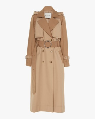 Caalo Camel Long Hooded Trench