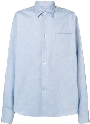 Ami Paris Oversize Long Sleeve Shirt With Chest Pocket