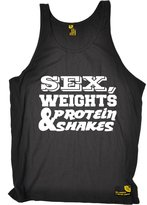 Sex Weights and Protein Shakes Premium SWPS Premium - Sex Weights & Protein Shakes (M - ) VEST TOP