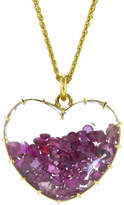Renee Lewis Ruby Heart Shake Necklace