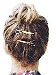 Bigban Girls Cute Fashion 1PC Scissors shape Hair Clip Hair Accessories Headpiece (Gold)