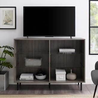 Manor Park Mid Century Modern 6-Shelf Bookcase, Dark Walnut