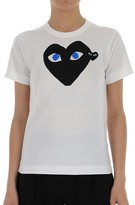Comme des Garcons Almond Eye Heart Print T-Shirt