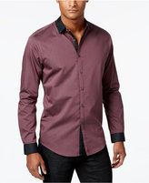 INC International Concepts Men's Yarn-Dyed Contrast Trim Shirt, Only at Macy's