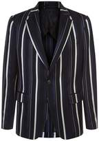 Versace Striped Single-Breasted Blazer