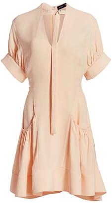 Proenza Schouler Gathered Crepe Dress