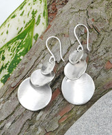 Avani Katherine Winters Women's Earrings Metallic - Sterling Silver Hammered Disc Drop Earrings