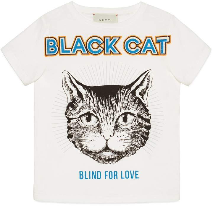 69fd1d0eb73 Gucci Cat T-shirt - ShopStyle