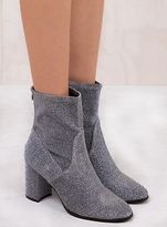 Therapy New Women's Silver Hoxton Sparkle Boots