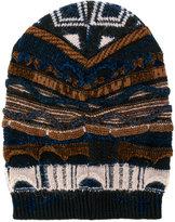 Laneus jacquard knit beanie