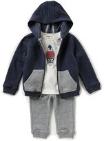 Nautica Baby Boys 12-24 Months French Terry Hoodie Jacket, Jersey Tee & Quilted Jogger Pant Set