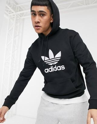 adidas hoodie with trefoil logo-Black
