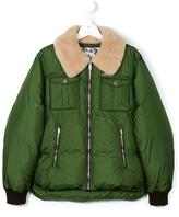 DSQUARED2 shearling collar down coat