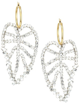 Lizzie Fortunato 18K Goldplated & Crystal Leaf Earrings