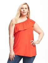 Old Navy One-Shoulder Plus-Size Ruffle-Trim Top
