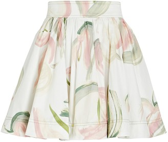 Aje Imprint Floral Mini Skirt