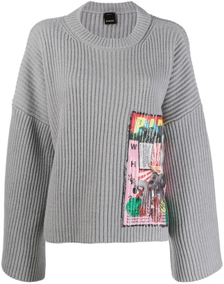 Pinko sequin embroidered jumper