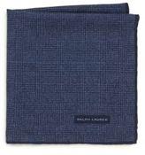 Ralph Lauren Tonal Plaid Wool & Silk Pocket Square