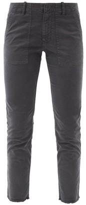 Nili Lotan Jenna Cropped Cotton-blend Slim-leg Trousers - Grey Multi