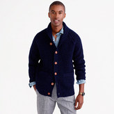 J.Crew Shawl-collar cardigan in Donegal wool
