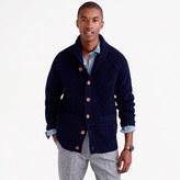 Shawl-collar Cardigan In Donegal Wool