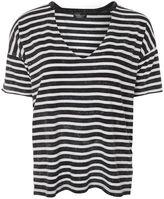 Topshop Choker acid stripe t-shirt
