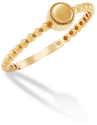 Saks Fifth Avenue 14K Yellow Gold Beaded Band Ring